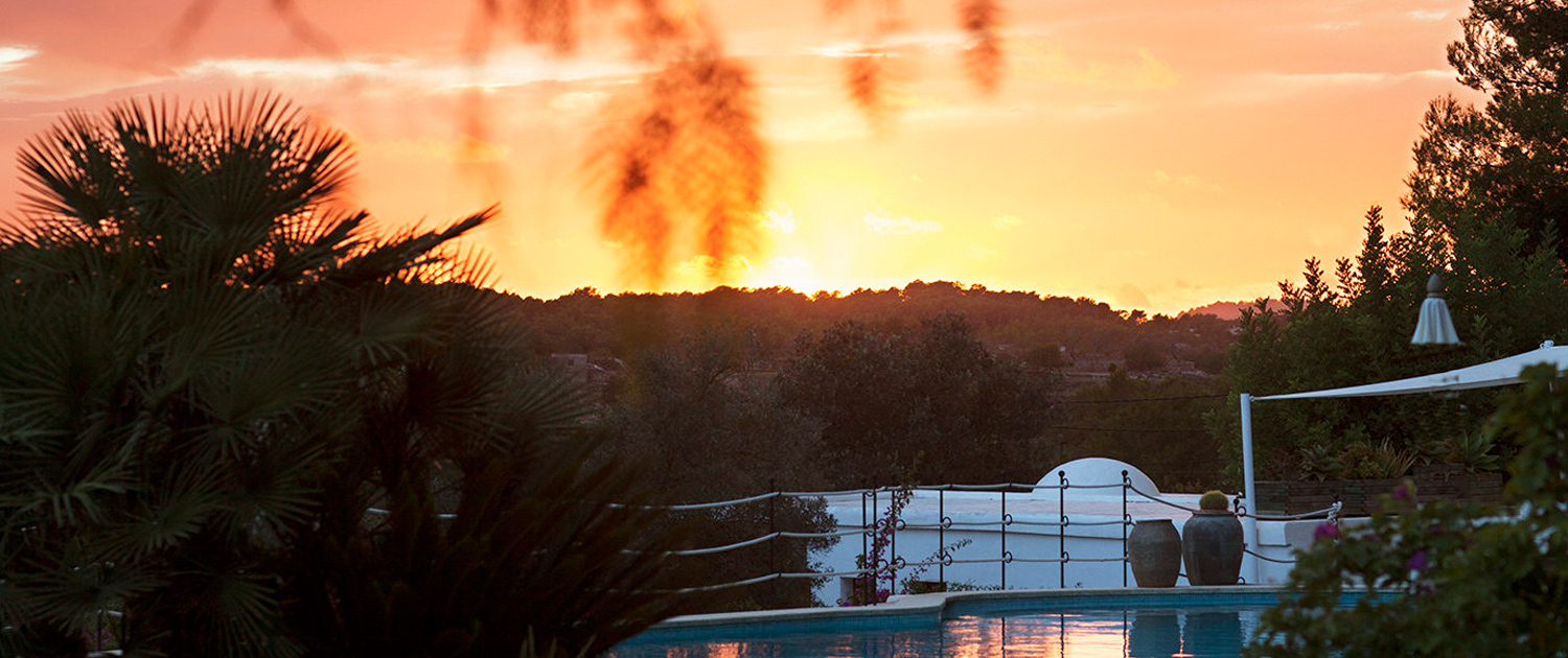 ibiza sunset from cas gasi agroturismo hotel