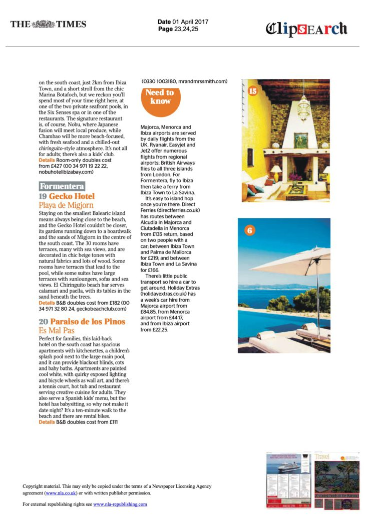 the times coolest hotels in the balearics april 2017