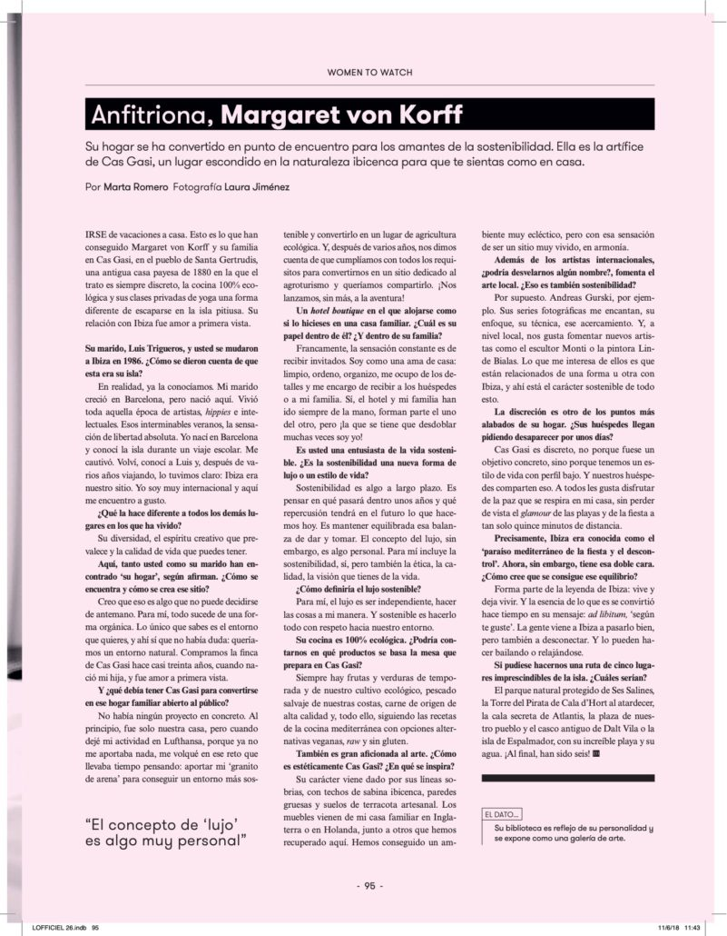 l'officiel magazine margaret von korff feature