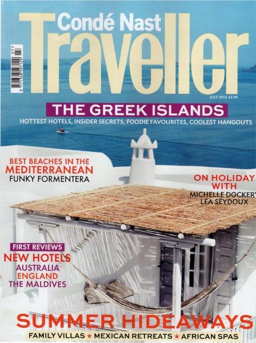 conde nast traveller july 2014 cover