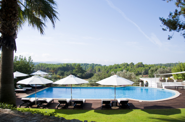 Cas Gasi hotel pool and countryside view
