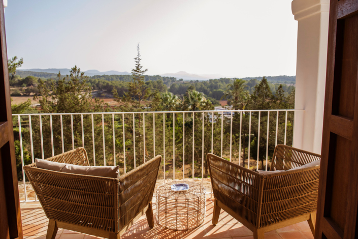 countryside view from Cas Gasi hotel ibiza